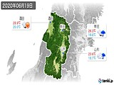 2020年06月19日の山形県の実況天気