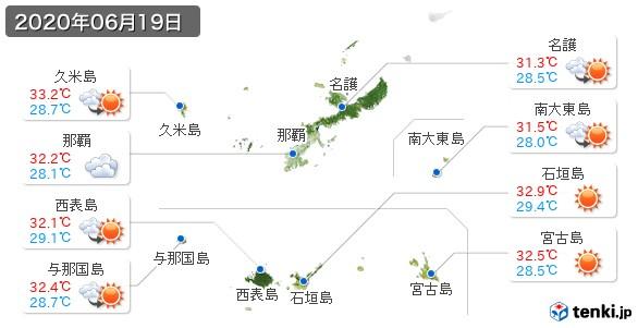 沖縄県(2020年06月19日の天気