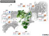 2020年06月20日の近畿地方の実況天気