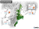 2020年06月20日の三重県の実況天気