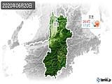 2020年06月20日の奈良県の実況天気