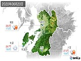 2020年06月20日の熊本県の実況天気