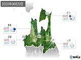 2020年06月20日の青森県の実況天気