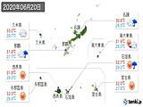 2020年06月20日の沖縄県の実況天気