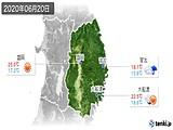 2020年06月20日の岩手県の実況天気