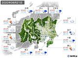 2020年06月21日の関東・甲信地方の実況天気