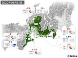 2020年06月21日の東海地方の実況天気