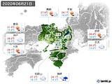 2020年06月21日の近畿地方の実況天気