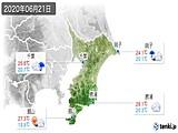 2020年06月21日の千葉県の実況天気