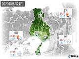 2020年06月21日の兵庫県の実況天気