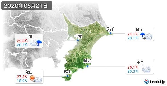 千葉県(2020年06月21日の天気