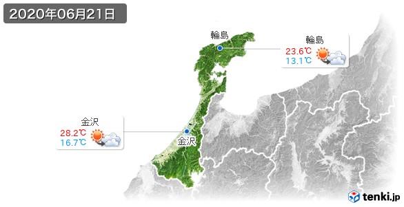 石川県(2020年06月21日の天気