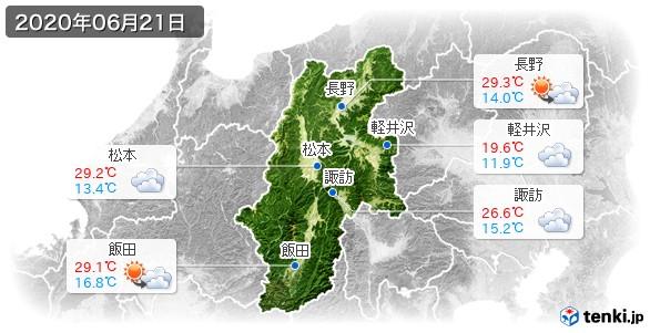 長野県(2020年06月21日の天気