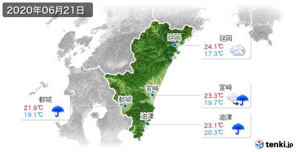 宮崎県(2020年06月21日の天気