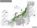 2020年06月22日の北陸地方の実況天気