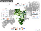 2020年06月22日の近畿地方の実況天気