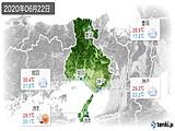2020年06月22日の兵庫県の実況天気