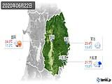 2020年06月22日の岩手県の実況天気