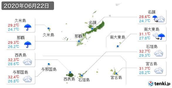 沖縄県(2020年06月22日の天気