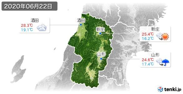 山形県(2020年06月22日の天気