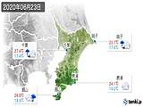 2020年06月23日の千葉県の実況天気