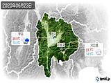 2020年06月23日の山梨県の実況天気