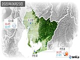 2020年06月23日の愛知県の実況天気