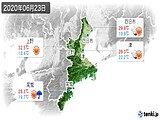 2020年06月23日の三重県の実況天気