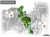 2020年06月23日の京都府の実況天気