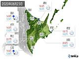 2020年06月23日の道東の実況天気