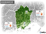 2020年06月23日の岡山県の実況天気