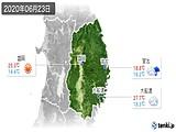 2020年06月23日の岩手県の実況天気