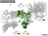 2020年06月24日の近畿地方の実況天気