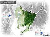 2020年06月24日の愛知県の実況天気