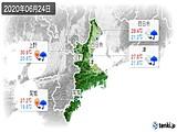 2020年06月24日の三重県の実況天気