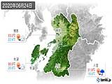 2020年06月24日の熊本県の実況天気