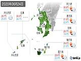 2020年06月24日の鹿児島県の実況天気
