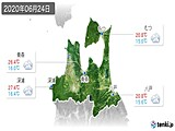 2020年06月24日の青森県の実況天気