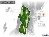 2020年06月24日の山形県の実況天気