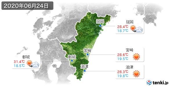 宮崎県(2020年06月24日の天気