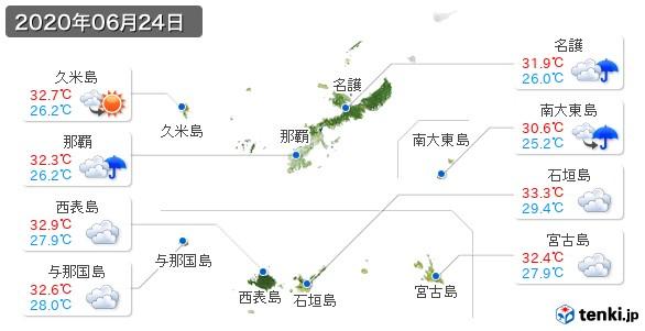 沖縄県(2020年06月24日の天気