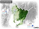 2020年06月25日の愛知県の実況天気