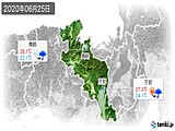 2020年06月25日の京都府の実況天気