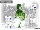 2020年06月25日の兵庫県の実況天気