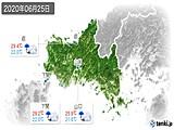 2020年06月25日の山口県の実況天気
