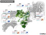 2020年06月26日の近畿地方の実況天気