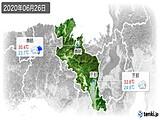 2020年06月26日の京都府の実況天気