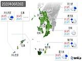 2020年06月26日の鹿児島県の実況天気