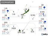 2020年06月26日の沖縄県の実況天気