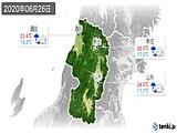 2020年06月26日の山形県の実況天気
